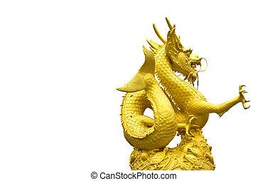 Golden Dragon Statue in Phuket