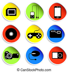 Icon set of electronic gadgets