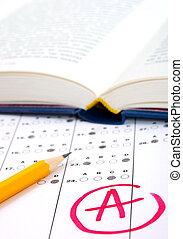 Test paper with result - School and Education. Test paper...