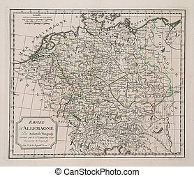 antique map of Germany - year 3 of the french revolution (...