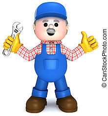 Craftsman - Fully equiped craftsman mascot