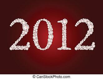 Vector illustration of diamond 2012 year