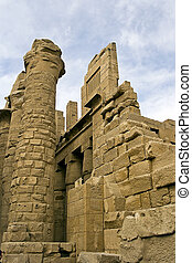 Wall and columns in Karnak, Luxor