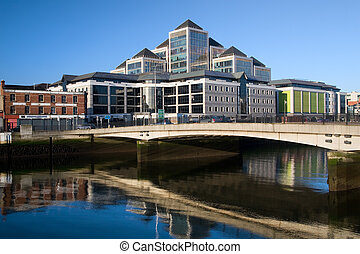 City of Dublin - Modern architecture in Dublin downtown by...