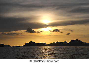 Palawan Island in Philippines - Palawan Island during the...