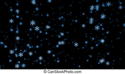 Loopable snowfall at night