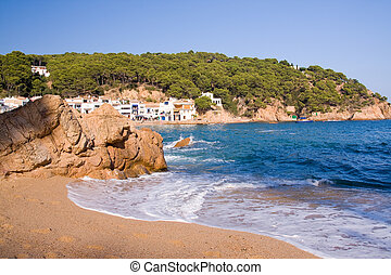 beautiful small village on the coast of Costa Brava, Spain