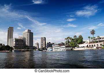 Cairo view from Nile river, Egypt