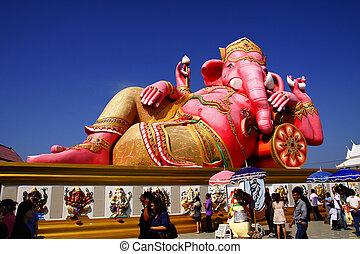 il, statua, Signore, Ganesh