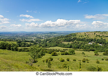 View at Cotswold Edge near Gloucester, Cotswolds, UK