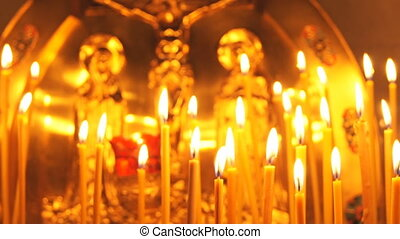 Russian Orthodox Church. Candle - Russian Orthodox Church.