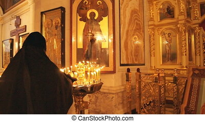 Russian Orthodox Church. Candle