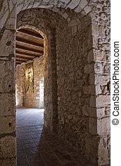 Interior Castle of Monte Sant'Angelo. Puglia. Italy.