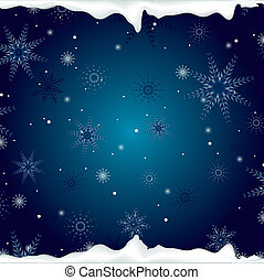 christmas background with snowflak
