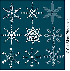 Snow Flakes - A collection of uniquely shaped snow flakes
