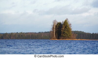 Small island on a lake in Finland