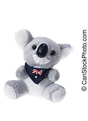 Koala Soft Toy on White Background