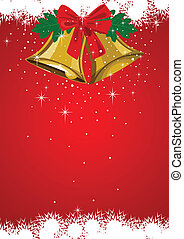 Christmas Bells - Illustration of Christmas bells with...