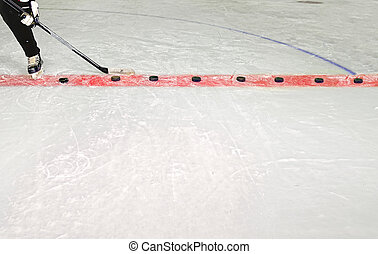 Ice Hockey Practice Stick and Pucks - Young Hockey Player...