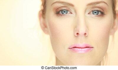 Portrait Seductive Sultry Blonde Woman