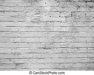 White bricks - White brick wall useful as a background