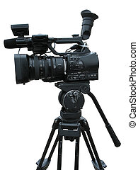 TV Professional studio digital video camera isolated on...