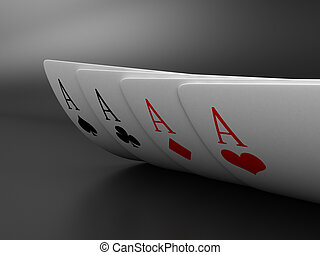The cards - Illustration of playing cards of different...