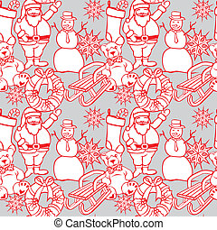 seamless background with christmass - fully editable vector...
