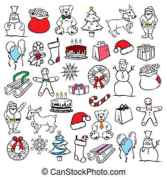 illustration of christmass items - fully editable vector...