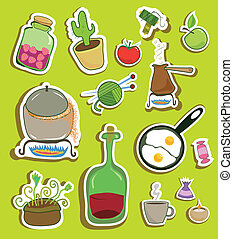 household stickers - stickers collection of different...