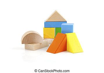 木制, 玩具, 塊