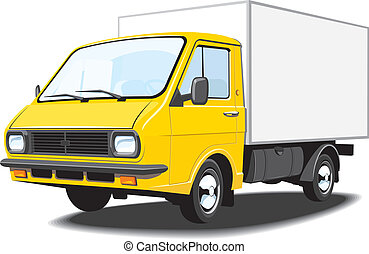 Delivery truck - Vector isolated delivery truck, without...