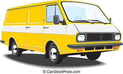 Delivery van - Vector isolated delivery and cargo van,...