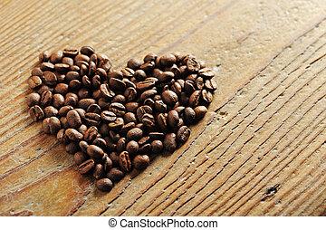 愛, シンボル, 豆, コーヒー