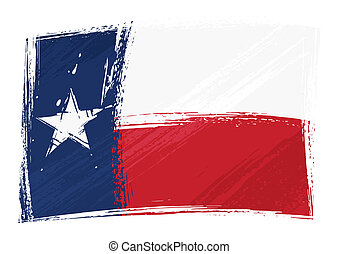 Grunge Texas flag - State of Texas flag created in grunge...