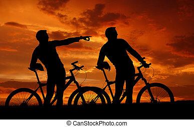 dos, Montaña, Bikers