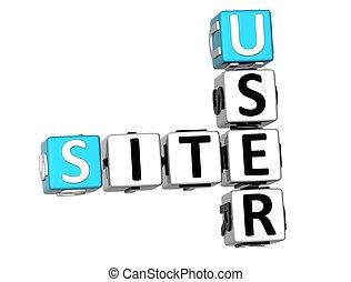3D Site User Crossword