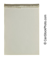 writing pad - An old writing pad located on a white...