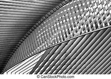 Liege Station - Liege station roof shot from below