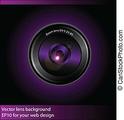 Vector camera lens background - Vector background with...