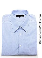 Blue shirt - Blue business shirt on white background