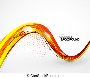 Abstract background - Abstract orange wave vector background