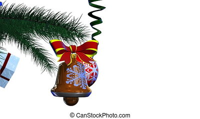 Christmas decoration - Render of christmas decoration rotate...