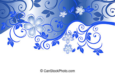 floral pattern with space for text