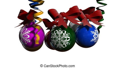 Christmas balls - Render of group bright, color Christmas...