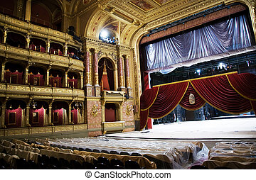 old state opera Opera house in Budapest - famous old state...