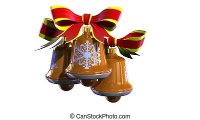 Christmas bells - Render of group bright, color Christmas...