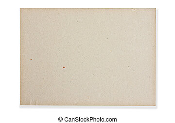Brown paper on white background