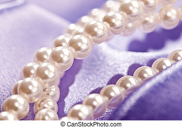 Pearl - Beads of pearl on the lilac for lady