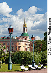 Russia. Saint petersburg. Engineering (Mikhailovsky) Castle